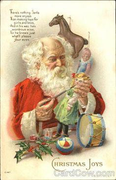 Santa Painting Toys Santa Claus
