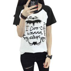 2017 Girls Women Casual Brand Tee Shirt Femm Short Sleeve T Shirt Letter Printing T Shirt Women Tops Black Blue Harajuku A
