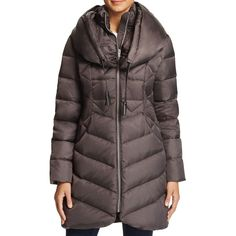 Via Spiga Shawl Collar Puffer Coat (5.165 CZK) ❤ liked on Polyvore featuring outerwear, coats, concrete, red hooded coat, hooded coat, puffer coat, puffy coat and shawl collar puffer coat