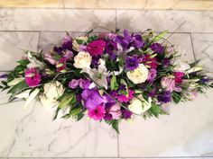 Colourful double ended spray x Sympathy Flowers, Funeral Flowers, Center Pieces, Floral Arrangements, Eve, Floral Wreath, Bloom, Wreaths, Sayings