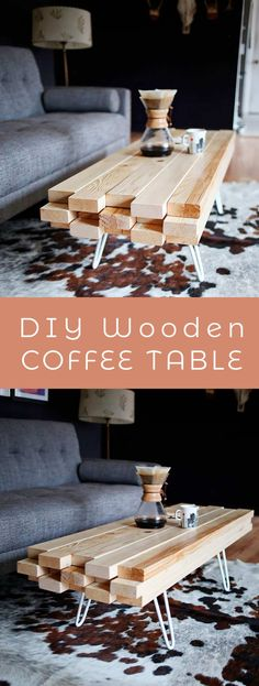 DIY Wooden Coffee Table - A Beautiful Mess