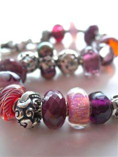 Cymbidium Beauty bracelet, featuring three gorgeous rubies, by YP at Tartooful