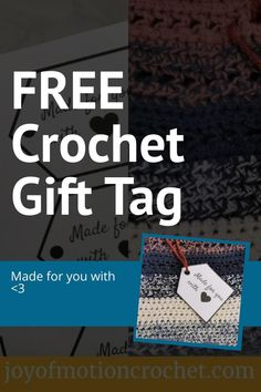 Love gifting handmade? These printable gift tags are perfect for those handmade gifts! Download this gift tag freebie. Instant download Crochet Stitches For Beginners, Crochet Tutorials, Crochet Patterns, Learn To Crochet, Easy Crochet, Free Crochet, Craft Stash, Gift Tags Printable, Homemade Crafts