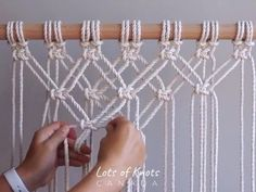 DIY Macrame Tutorial - Starting Your Work! Overlapping Square Knot Pattern - You. - DIY Macrame Tutorial – Starting Your Work! Overlapping Square Knot Pattern – You… – – - Macrame Design, Macrame Art, Macrame Projects, Macrame Knots, Micro Macrame, Macrame Square Knot, Macrame Wall Hanging Patterns, Macrame Plant Hangers, Macrame Curtain