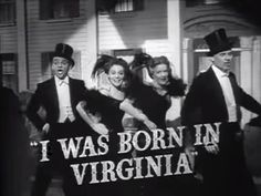 "Song title: ""I Was Born in Virginia"" 