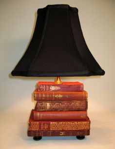 Book Lamp Antique Upcycled Books Silk Lamp Shade by FirstandFig, $290.00