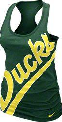Oregon Ducks Women's Green Nike Gridiron T-Shirt
