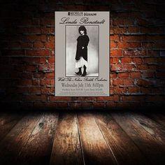 Linda Ronstadt 1984 Cleveland Concert Poster