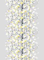 Marimekko Lumimarja Grey/Yellow Fabric for kitchen curtains. Shades Of Yellow, Grey Yellow, Mellow Yellow, Gray, Blue, Fabric Patterns, Print Patterns, Floral Patterns, Scandinavian Fabric