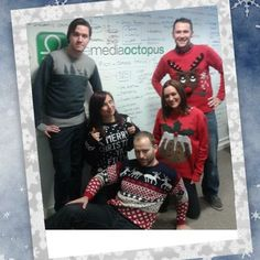 MERRY CHRISTMAS from The Media Octopus team (part 2) Celebrating Save the Children's Christmas Jumper Day in our best festive knitwear! #xmasjumperday