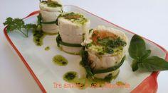 Involtini di pollo e verdure al vapore