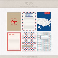 Like the colors. NEW! Par Avion Journaling Cards