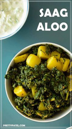 Saag aloo is a healthy Indian curry made using spinach and potato. It is packed full of spices and is super tasty. This is an easy to make vegan and gluten free curry. Recipe by prettypatel.com via @pretty_patel