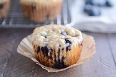 Easy AND delicious, these healthy yogurt oat blueberry muffins (OR chocolate chips) are a household staple for breakfast and snacks. Yum!