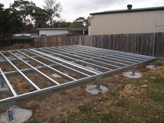 Granny Flat Solutions- Granny Flat being constructed at Berowra Heights NSW- Steel Floor Framing Designed and Manufactured by Spantec