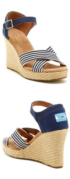 TOMS Nautical Striped Wedges