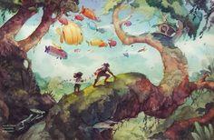 Dive into The Art of Sarah Webb, ans Illustrator and visual development artist from Alaska. Grey Art, Visual Development, Environment Design, Freelance Illustrator, Watercolor Illustration, Book Illustration, Watercolor Art, Art Inspo, Fantasy Art