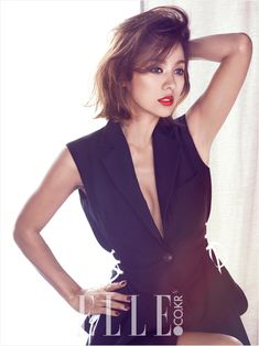 """Lee Hyori in """"Read My Lips"""" for Elle KoreaOctober 2014. Photographed by Ahn Joo Young"""
