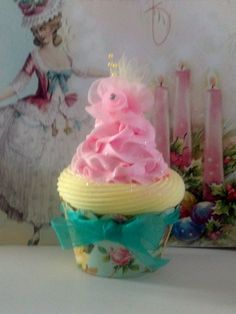 MARIE ANTOINETTE FAKE CUPCAKE PHOTO PROPS CHRISTMAS ORNAMENT HOME DECOR ACCENTS #FAKECUPCAKECREATIONS