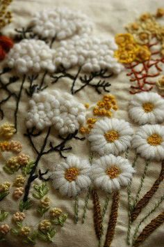 All about embroidery! Embroidery applique, cute embroidery, embroidered shirts, embroidering machine, embroidery clothes and more. Crewel Embroidery - Long & Short as Soft Shading in Colors - Embroidery Patterns crewel embroidery pillow by mellow_stuff cr Crewel Embroidery Kits, Ribbon Embroidery, Cross Stitch Embroidery, Embroidery Patterns, Embroidery Supplies, Embroidery Needles, Fabric Art, Pillow Fabric, Curtain Fabric