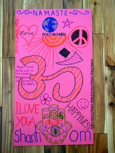 dollie sized yoga mat designed by my yogini.  visit us on the web for your custom yoga mat! kids yoga mat