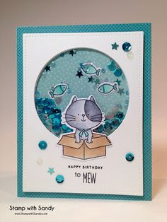 Stamp with Sandy: Happy Birthday to Mew, I Knead You Stamp Set, My Favorite Things