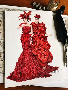 Lady in red in The Muse show by @domanhcuongdmc #sketch #sketching #draw #drawing #fashion #fashionsketch #fashionsketching #fashiondrawing #fashionart #art #fashioninspiration #fashionillustrator #artwork #instaart #illustrator #illustration #eristran