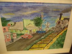 Whistle Stop Watercolor Painting #Art #Sale