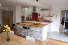 single storey extension ideas for house Kitchen Extension Ideas Ireland, Kitchen Extension Before And After, 1930s Kitchen Extension, Kitchen Extension Inspiration, Kitchen Extension Layout, Council House Makeover, Council House Renovation, House Renovations, Open Plan Kitchen Living Room