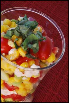 Clean Eating Corn Salad (Click Pic for Recipe) I completely swear by CLEAN eating!!  To INSANITY and back....  One Girls Journey to Fitness, Health, & Self Discovery.... http://mmorris.webs.com/