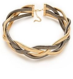 Bop bijoux Metallic Braid Necklace $45.00 thestylecure.com