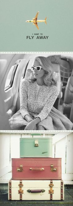Fly me to the moon! Retro luggage and travel Travel Qoutes, Oh The Places You'll Go, Places To Travel, Travel Destinations, Foto Fashion, Diy Fashion, Style Fashion, Come Fly With Me, Hotel Deals