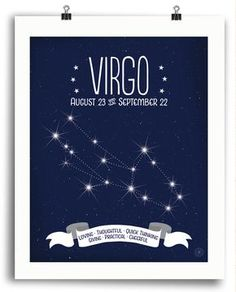 Virgo • Constellation Print - Anne Garrison Studio