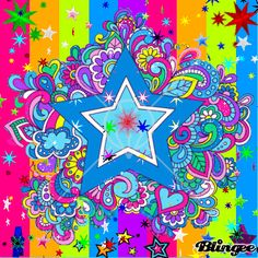 "Blingee Stars | This ""colorful stars"" picture was created using the Blingee free ..."