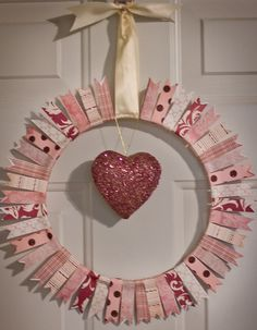 like this.  imagine you could wrap the paper, then cut and also try a heart shape punch near the end?