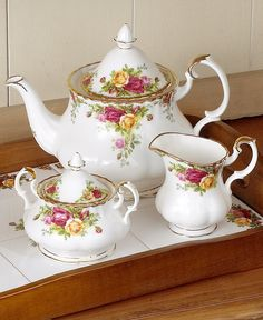 Royal Albert Old Country Roses 12-Pc. Service for 4 - Fine China - Dining & Entertaining - Macy's