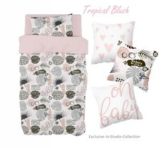 For an outdoors theme with a touch of Pink, our Tropical Blush theme is perfect for any little girl's nature theme nursery!