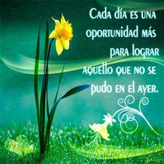 Imagen: Cada día es una oportunidad más de lograr... - Logos C.D.A - Expresando Palabra de Vida