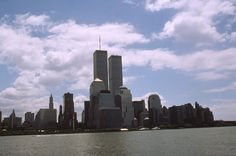 New York New York  - 1999 - Twin Towers and Lower Manhattan Looking from Circle Line.