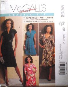 Palmer Pletsch Wrap Dress Sewing Pattern  Stretch Knit Dress