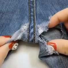 Best 12 beautiful stitching diy ideas 😍 – skillofking ways to mend and repair clothes using embroidery – ArtofitYou should know these stitch hacks – Artofit Sewing Hacks, Sewing Tutorials, Sewing Crafts, Sewing Tips, Techniques Couture, Sewing Techniques, Sewing Stitches, Sewing Patterns, Repair Jeans