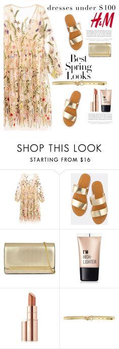 """H&M dresses"" by katymill ❤ liked on Polyvore featuring H&M, ALDO, Charlotte Russe, Estée Lauder, Kerr®, Just Cavalli and dressesunder100"