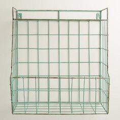 $34.99 Aqua Braedyn Wire Wall Storage with Shelf