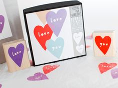 "Cute ""love you"" stamps from Yellow Owl Workshop ($13) will brighten your #Valentines Day cards or wrapping paper."