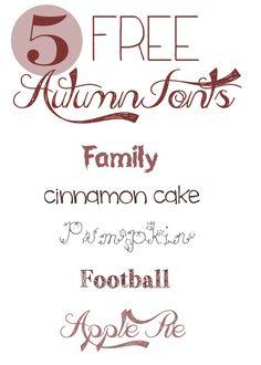 5 Free Autumn Fonts