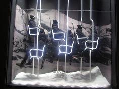 Moncler window display - Milan