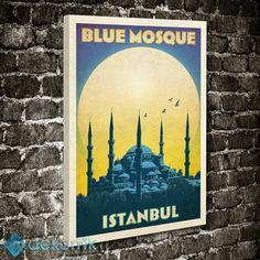 İstanbul Blue Mosque Tablo #kanvas_tablo