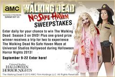 Zombies beware! Enter now through September 22 for a chance to win season 3 of The Walking Dead on DVD and for an opportunity to win the grand prize!