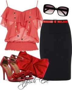 Feminine in pinks and reds