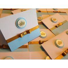 30und Convites Príncipe Reinado Coroa Azul Marinho Liso - R$ 90,00
